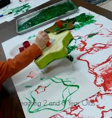 christmas art for toddlers and preschoolers teaching 2 and 3