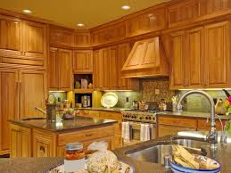 classy mission style kitchen features rectangle shape brown wooden
