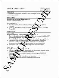 Resume Examples For Restaurant Jobs by One Job Resume Examples Job Resume For Freshers Best Resume