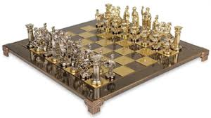 luxury chess set the formidable greek roman army brass luxury chess set with 97mm