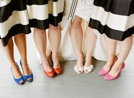 wear mix and match shoes with striped frocks