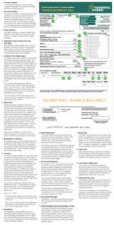 understanding your bill toronto hydro electric system