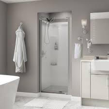 Shower Door Magnetic Strips by Vigo Monteray 40 25 In X 79 25 In Frameless Pivot Shower Door In