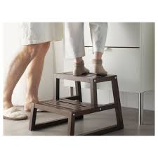 Bathroom Stools Molger Step Stool Dark Brown 16 1 8x17 3 8x13 3 4
