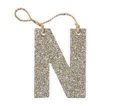 silver german glitter letter ornament w holidays ornaments