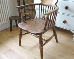 Wood Desk Chair by Desk Chairs Vintage Etsy Uk