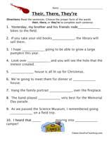 homophone worksheet their there they u0027re worksheets have fun