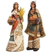 thanksgiving pilgrim statues jim shore heartwood creek thanksgiving collection two sided