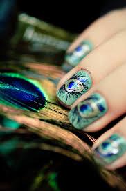 145 best peacock nail art images on pinterest peacock nail art