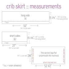 Crib Bed Skirt Measurements Crib Bedding 101 Crib Skirt Tutorial Crib Skirts And Crib