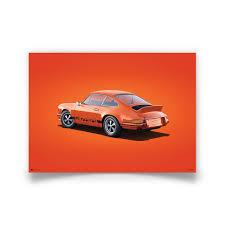 porsche orange orange porsche 911 rs poster colors of speed collection