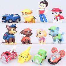 12 pcs paw patrol mini figures playset cake toppers ryder 6 pups 5