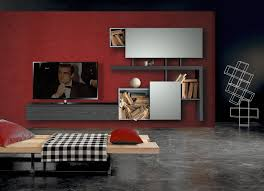 Led Tv Table Furniture Furniture Wall Unit For Hall This Custom Built Tv Modern 01 Loversiq