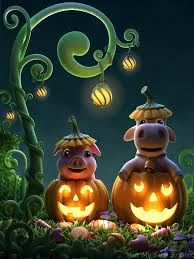 cute halloween desktop background little friends musical fun kids apps