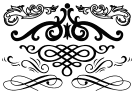 western flourish free vector stock graphics images