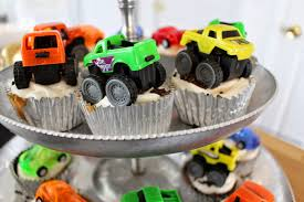 mini monster jam truck toys nuestra vida dulce theron u0027s 2nd birthday party