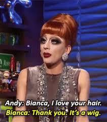 Bianca Del Rio Meme - bianca del rio tending the bar on wwhl w andy cohen clown
