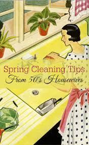 Springcleaning Spring Cleaning Tips From 50 U0027s Housewives Retro Housewife Goes Green