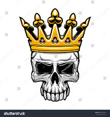 spooky clip art crowned king skull symbol spooky human stock vector 402052150
