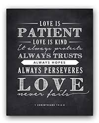 wedding quotes is patient corinthians 13 4 8 is patient quote chalkboard