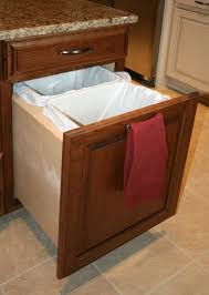 kitchen cabinet trash pull out kitchen cabinet trash drawer pull out built in cans slide under sink