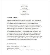 sales associate resume retail sales associate resume sle template 10 free sles