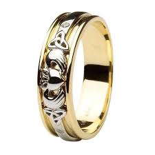 the gents wedding band gents gold diamond celtic and claddagh wedding band