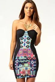 boo hoo clothing natalie monochrome print bodycon dress only 12 http www