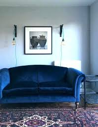 deep blue velvet sofa glamorous velvet blue sofa uk for royal leather chesterfield