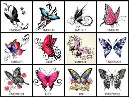 12 butterfly temporary tattoos