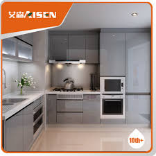 popular for the market high gloss matt grey lacquer kitchen