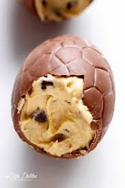 filled easter eggs chocolate chip cookie dough filled easter eggs