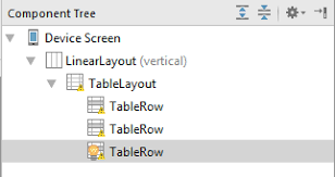 android table an android studio tablelayout and tablerow tutorial techotopia