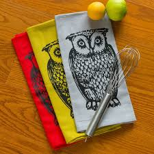 owl tea towels etsy deck out your kitchen with owl kitchen