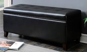 Black Storage Ottoman Black Storage Ottoman Bonners Furniture