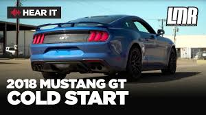 late model restoration mustang 2018 mustang gt performance pack cold start exhaust lmr com