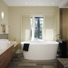 bathrooms with freestanding tubs freestanding tub bathroom transitional with honeycomb tile floor