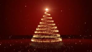 Red Gold And Purple Christmas Tree - rotating christmas tree animation loop gold purple stock footage