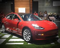 tesla showcases model 3 in rare la auto show appearance as exhibitor