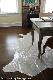 Silver Cowhide Rug Office Makeover White Devour Cowhide Rug At Eclectically Vintage