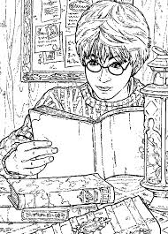 cartoons coloring pages harry potter coloring pages