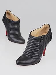christian louboutin black nappa leather sigourney 100 ankle boots