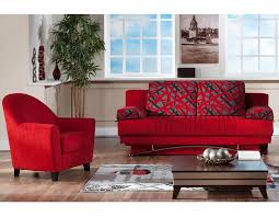 Bay Area Modern Furniture by Great European Red Fantazia Queen Sofa Bed Sofa Beds