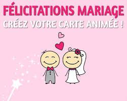 voeux de bonheur mariage mariage carte félicitations animée