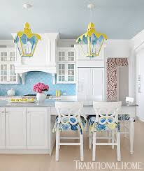 Lilly Pulitzer Rug Family Lake Home With Vibrant Color Traditional Home