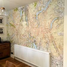 custom printed ordnance survey 1 25 000 wallpaper map lakelovers wallpaper map and mural