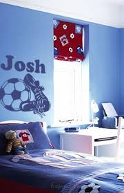 football boys name wall art decal wall decals wall stickers football boys name wall art decal