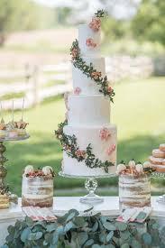 wedding cake greenery wedding cakes decorated with sugar greenery brides