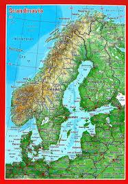 Scandinavia Map Craenen Georelief