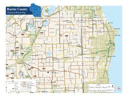 Racine Wisconsin Map by Racine County Bike Map Maplets